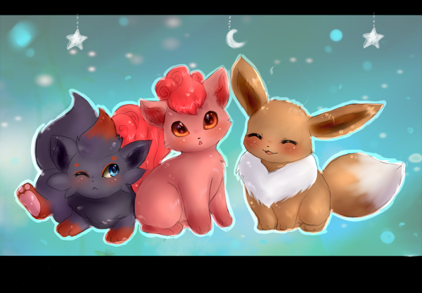 Eevee, Zorua, and Vulpix oh my by Link-Zelda2