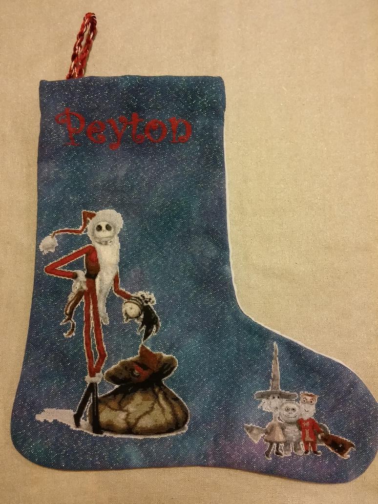 Nightmare Before Christmas stocking by CampbellsCrossStitch on ...