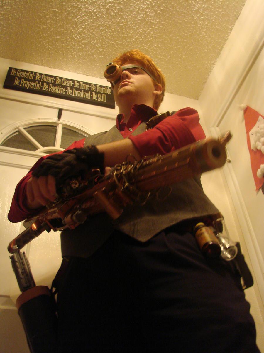 steampunk rifle by Rift-Mark