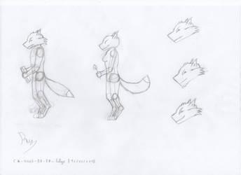Felyr sketches n.2 / Azurite and Eris