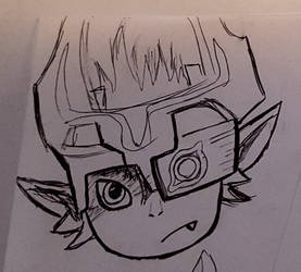 Midna head by BlackMage1234