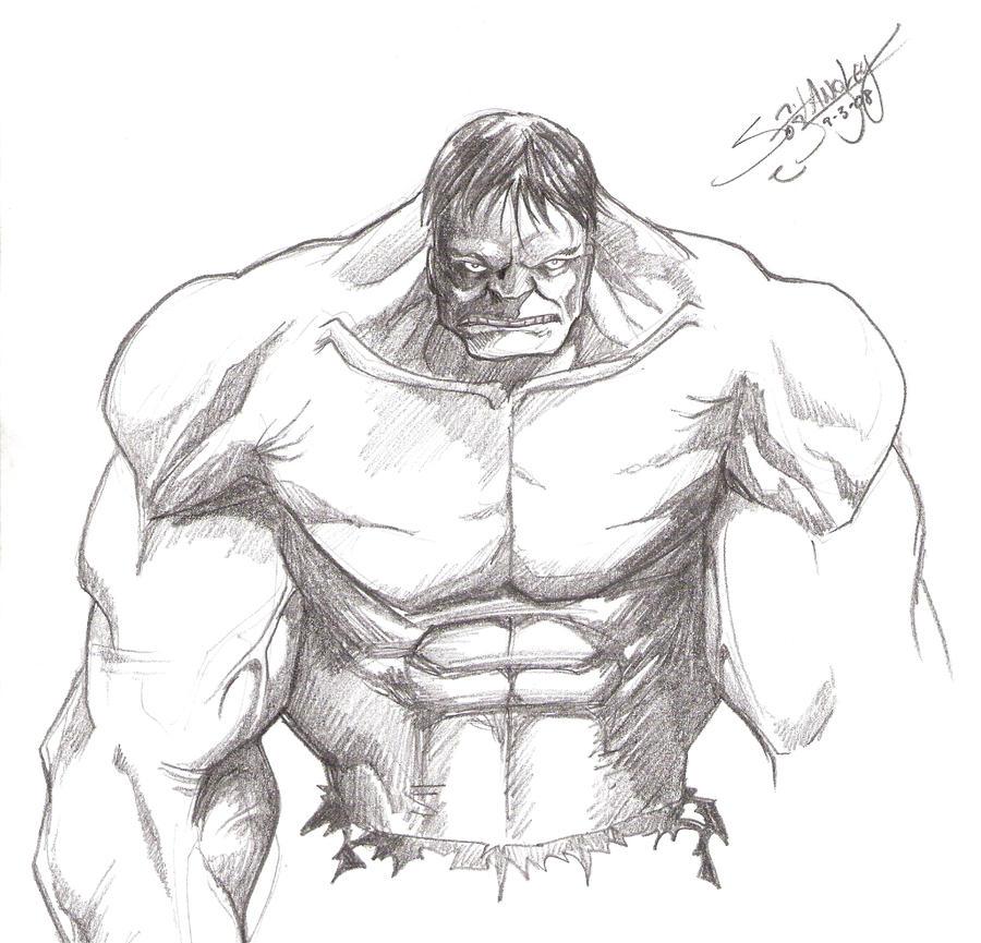 Hulk Sketch By LangleyEffect On DeviantArt