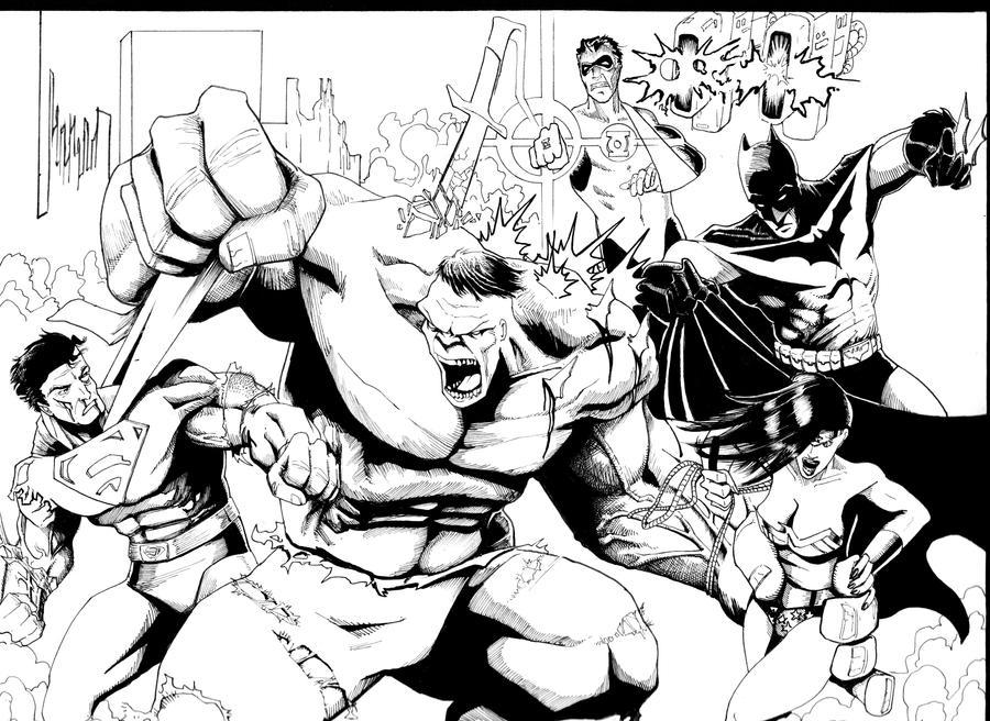 hulk vs superman coloring pages - photo#2