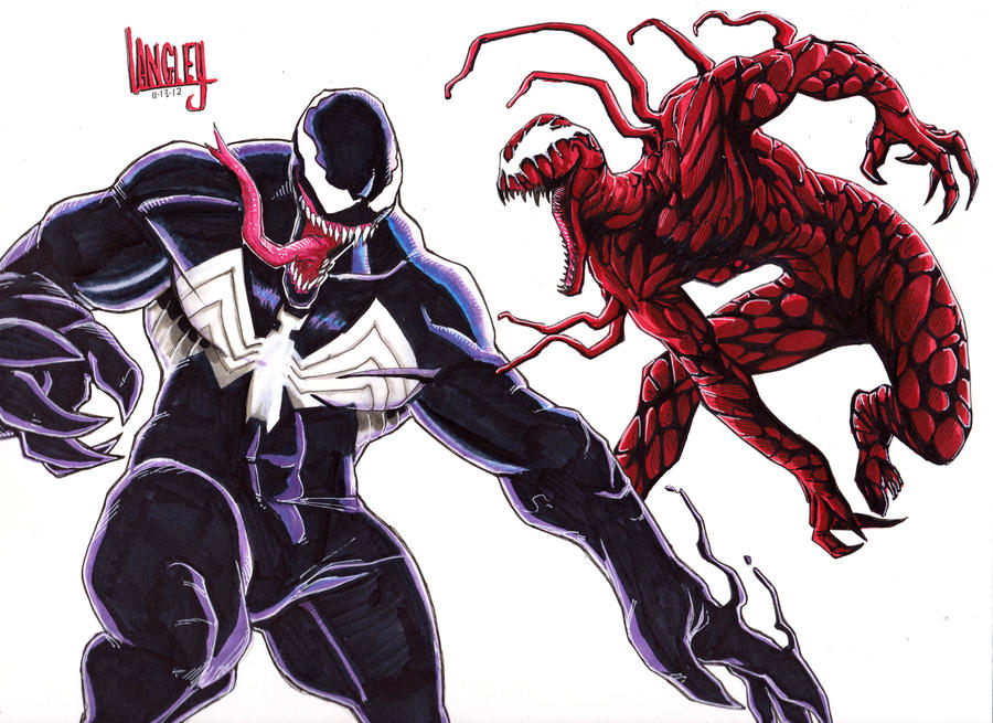 Venom vs. Carnage!! by LangleyEffect on DeviantArt