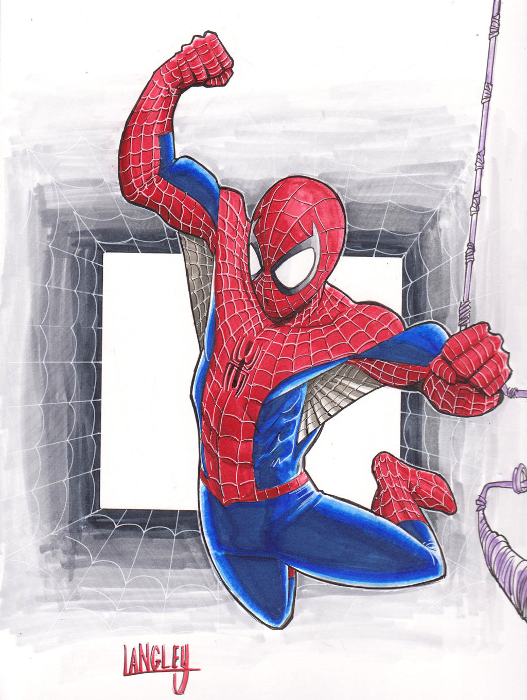 Spider-Man commission. by LangleyEffect