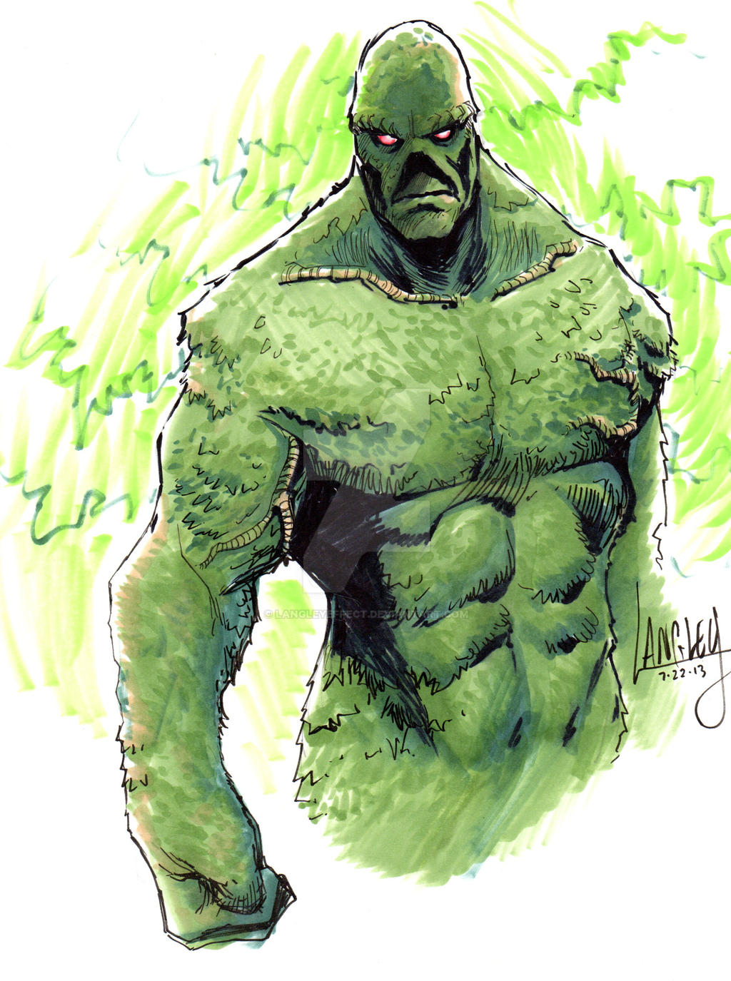 Swamp Thing commission by LangleyEffect