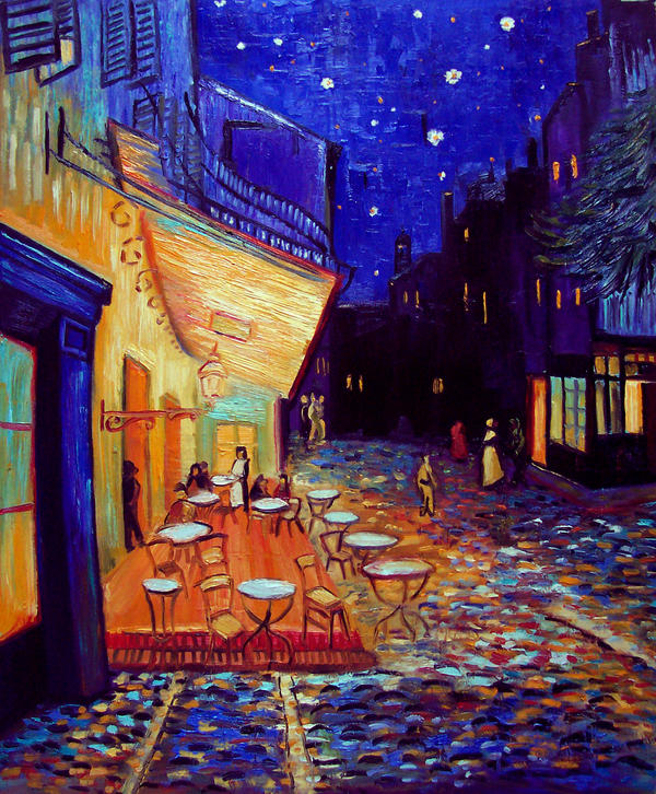 Famous Painting Caf Ef Bf Bd Terrace Next To Night