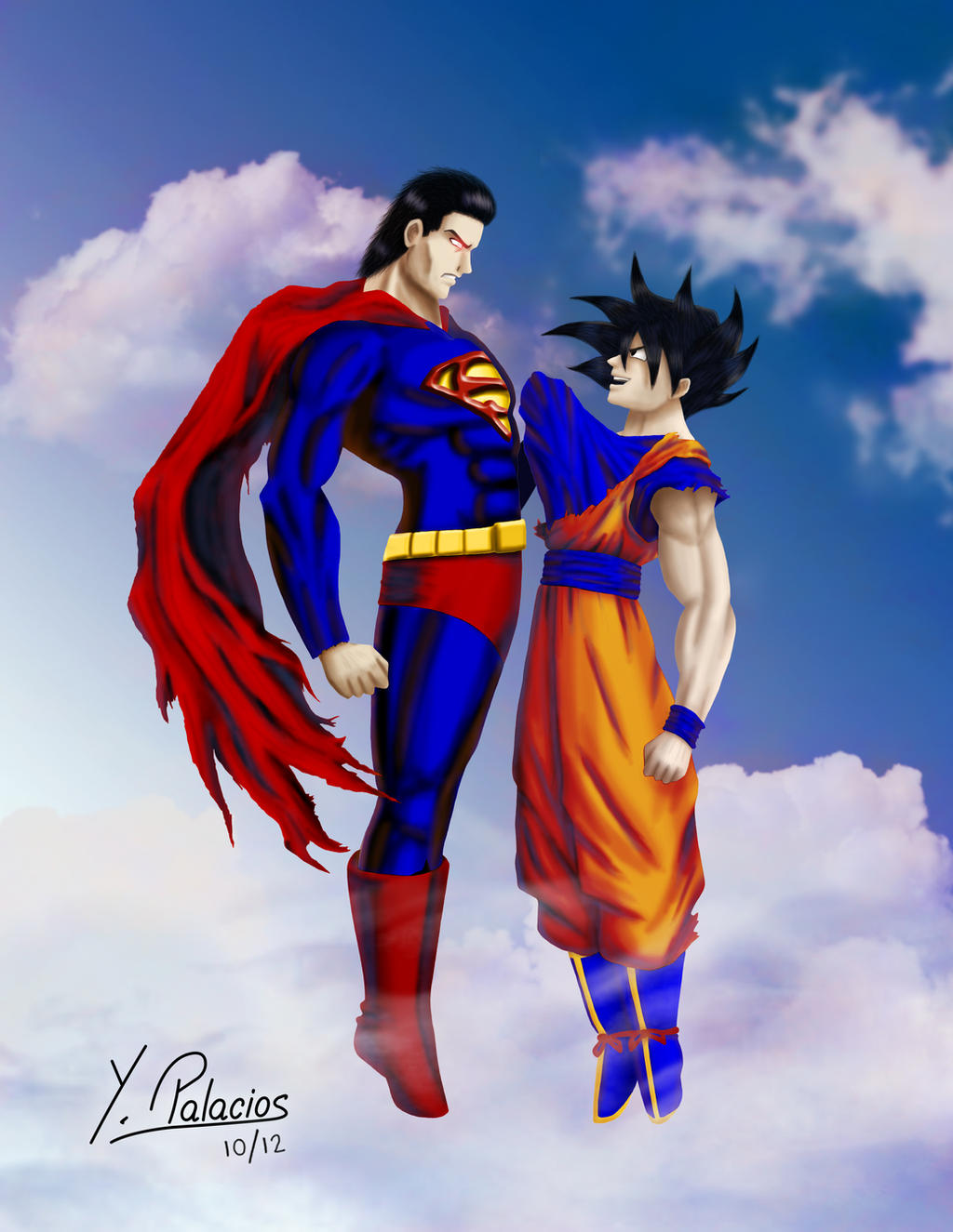 Goku VS Superman by Yakve on DeviantArt