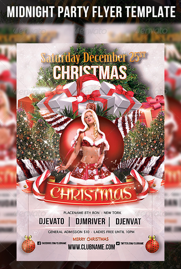 Christmas Party Flyer Template By Cerceicer On Deviantart