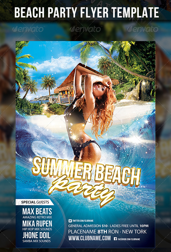Summer Beach Party Flyer Template By Cerceicer On Deviantart