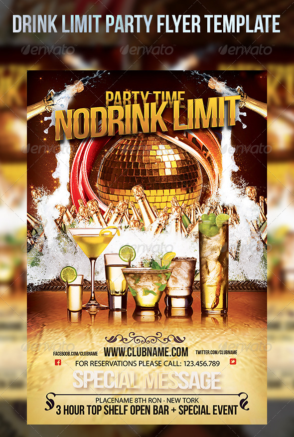 Drink Limit Party Flyer Template By Cerceicer On Deviantart