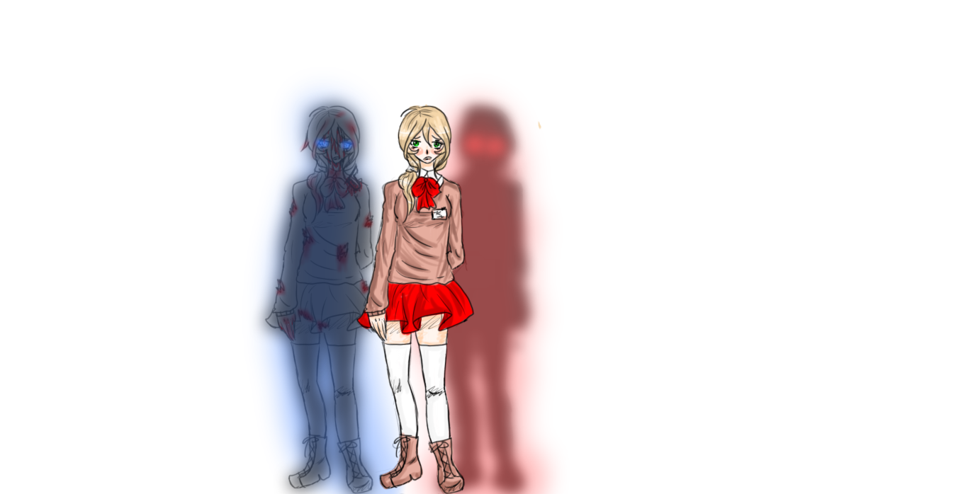 Corpse Party OC design sketch by 13rinchan
