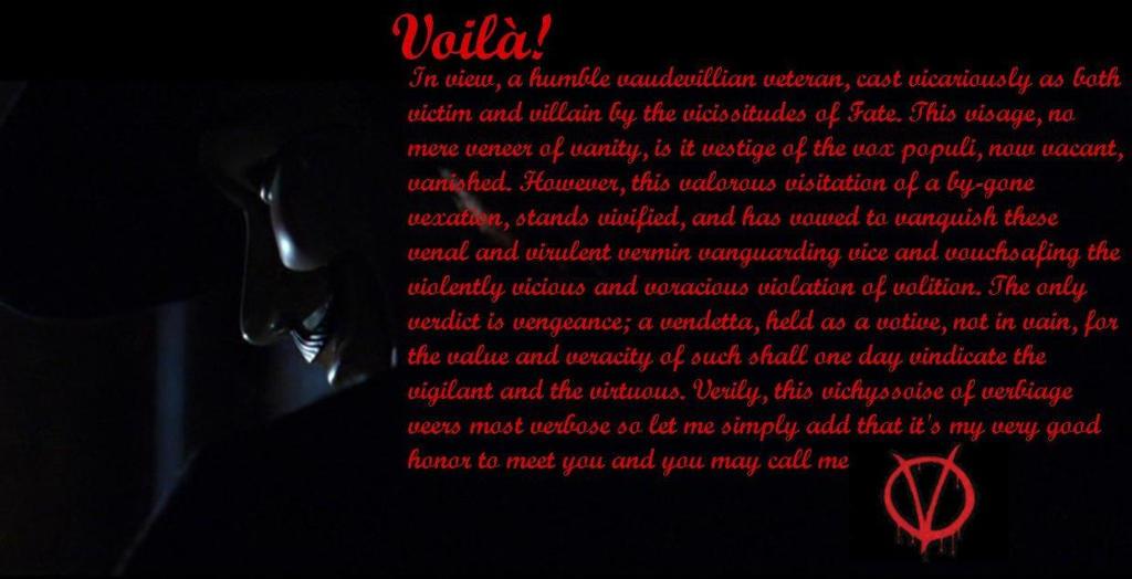 for Vendetta Wallpaper by RejektedAngel on DeviantArt