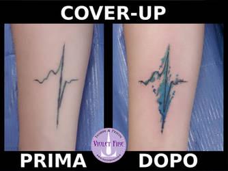 Cover-up Battito Cardiaco Heartbit - Adam Raia by Violet-Fire-Tattoo