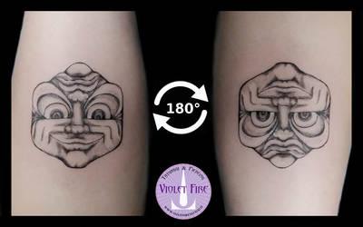 Inversion Illusion Tattoo by Adam Raia