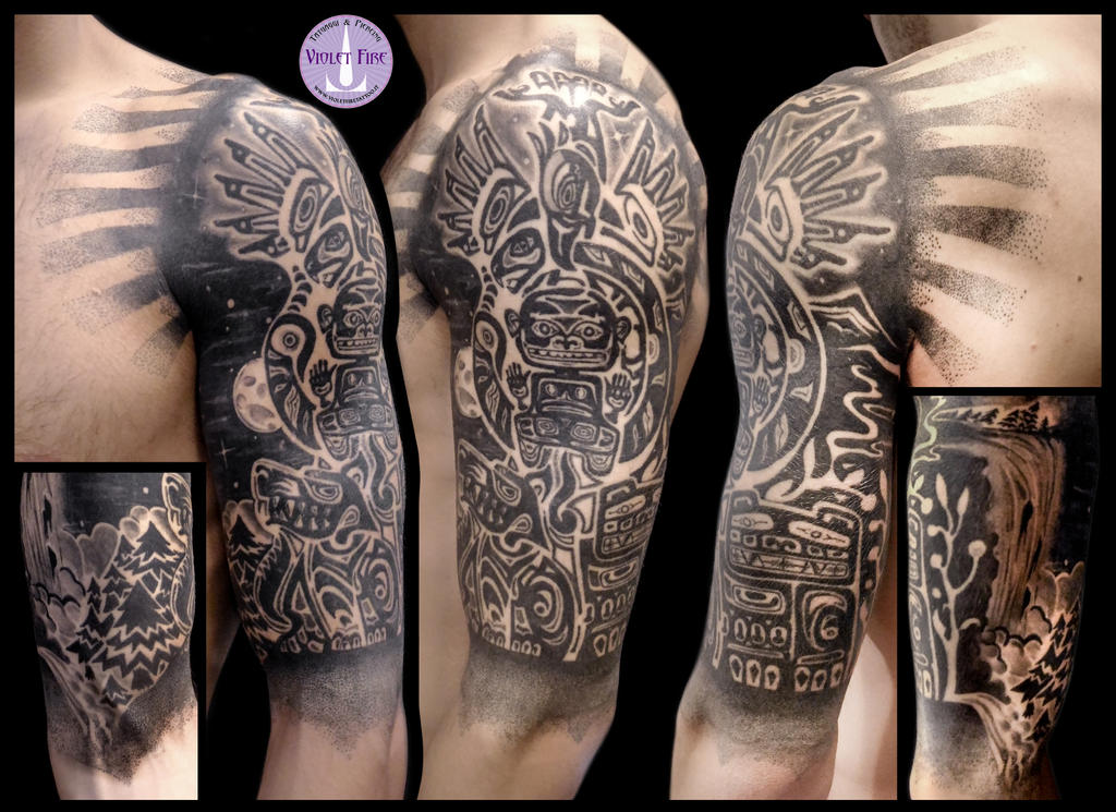 Tatuaggio Haida Haida Tattoo Violet Fire Tattoo By Violet