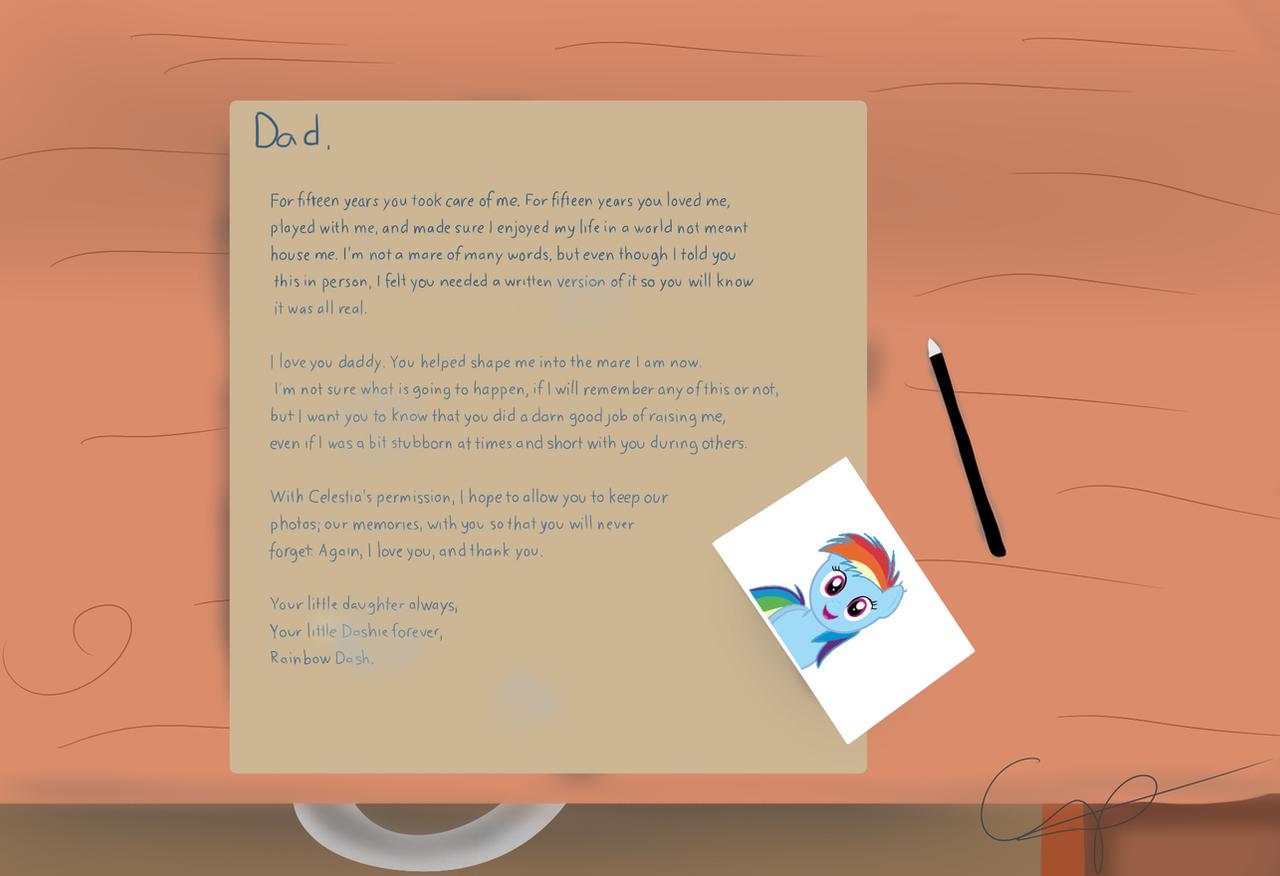 My Little Dashie - Letter warning spoiler by cipherpie