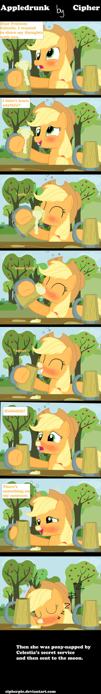 Appledrunk by cipherpie