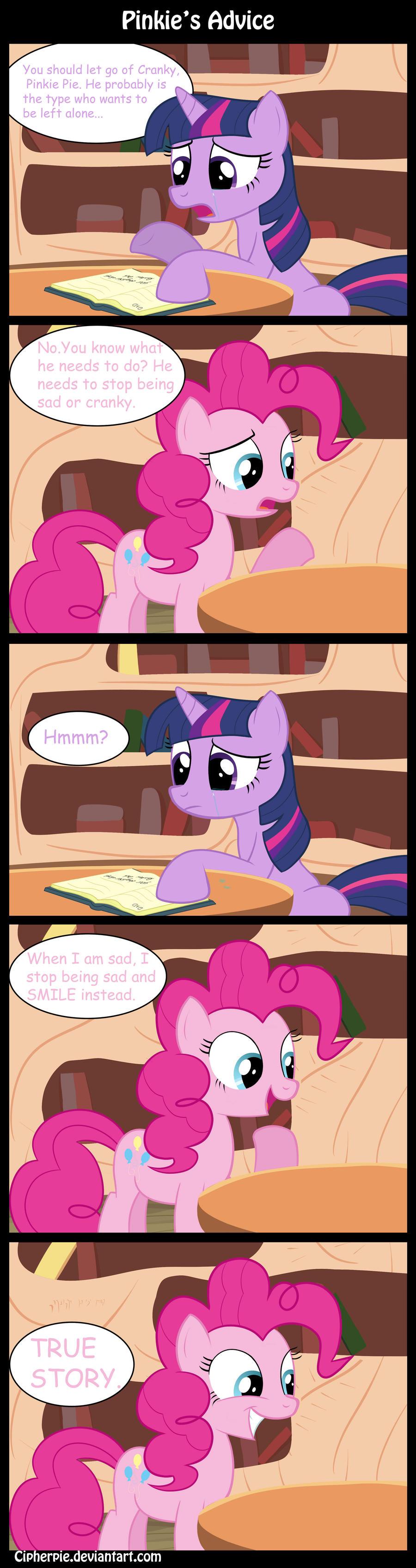 Pinkie's Advice by cipherpie