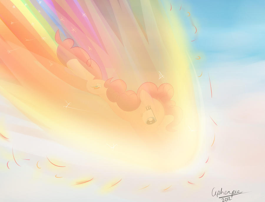What If Pinkie Pie Did the Sonic Rainboom? by cipherpie