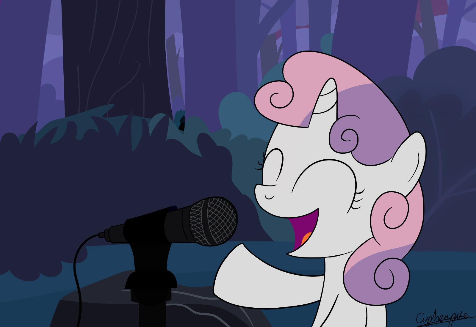 Singing Sweetie Belle by cipherpie