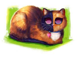 Venus the chimera cat by DamaskRose0503