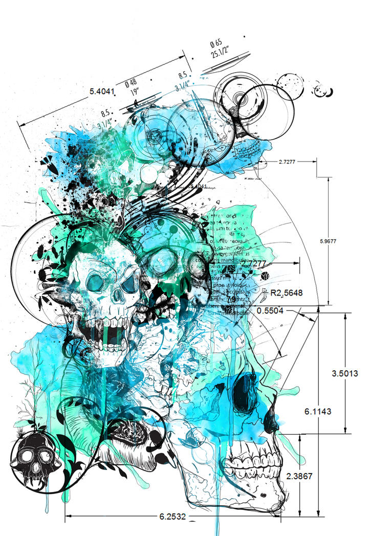 Anatomical Death T-Shirt Design by sixslow