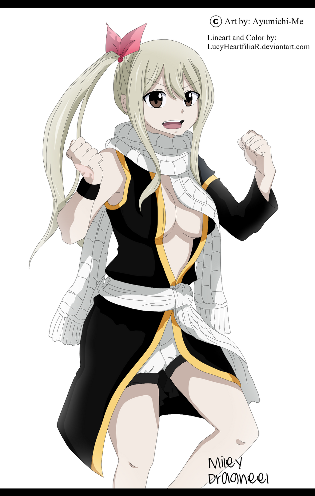 Lucy Heartfilia with Natsu clothes by Ayumichi-me by ...