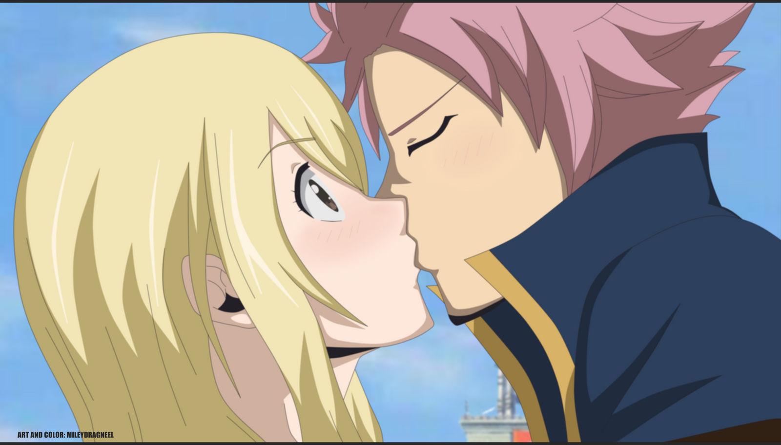 Natsu And Lucy Kiss