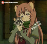 Raphtalia with a Raccoon - Fanart by MileyDragneelVE