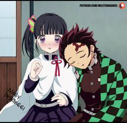 Kanao and Tanjirou by MileyDragneelVE
