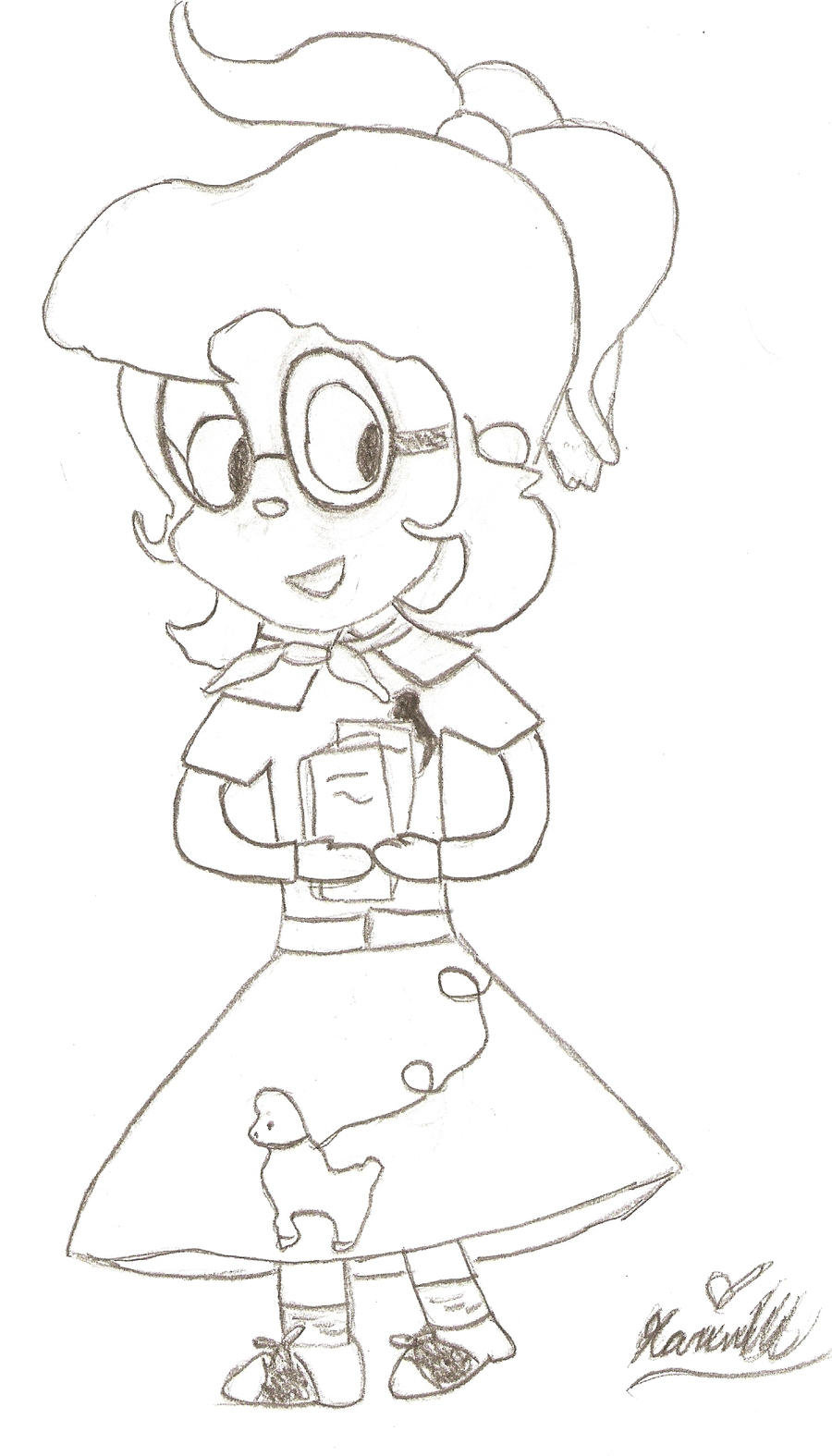 poodle skirt coloring pages - photo#13