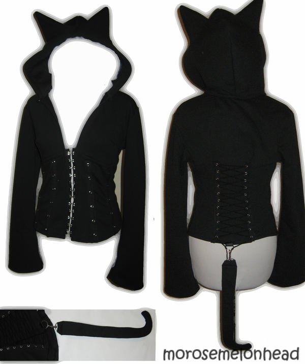 Corset Hoodie: Catwoman by Corset-Hoodies