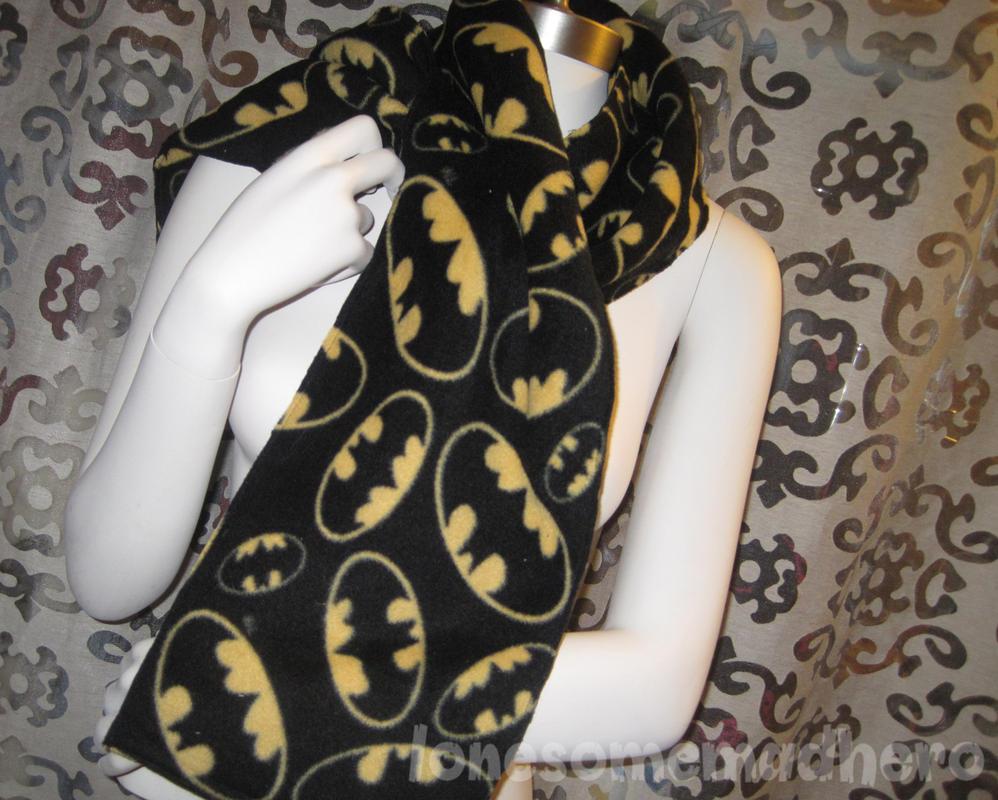 batman fleece scarf by Corset-Hoodies