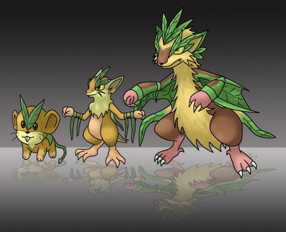 Grass Starter Pokemon Wallpaper Fakemon - Grass Starte...