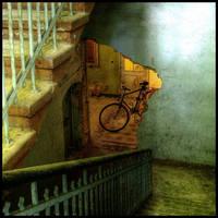 bike and broken doorway
