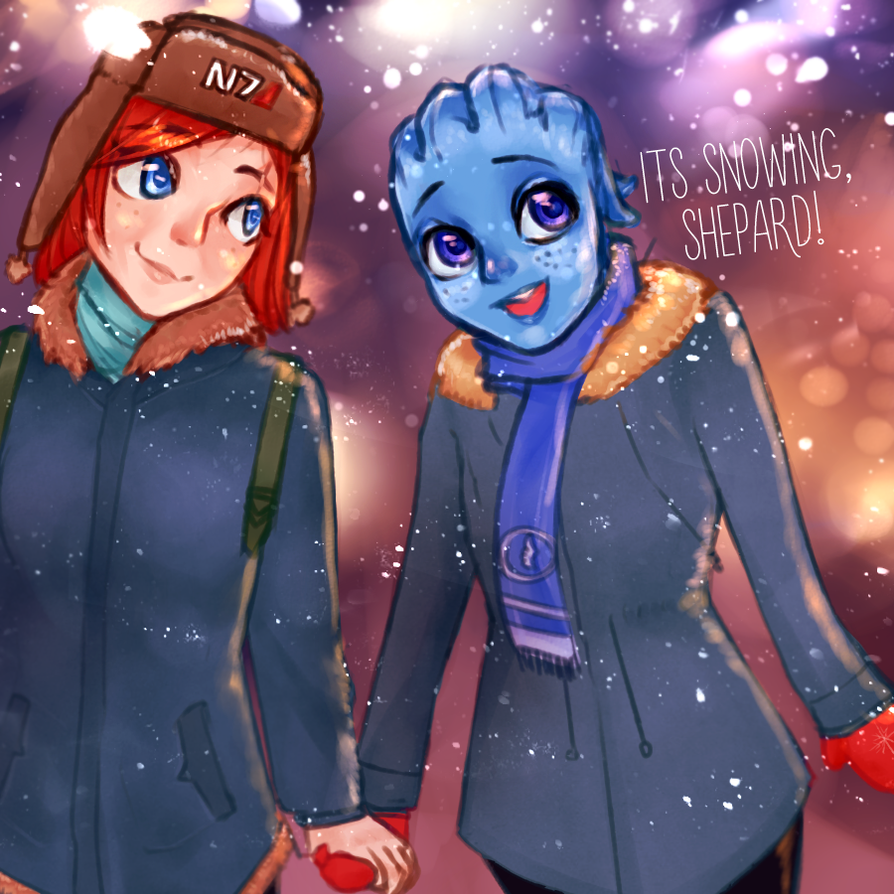 Snowing by WinterB