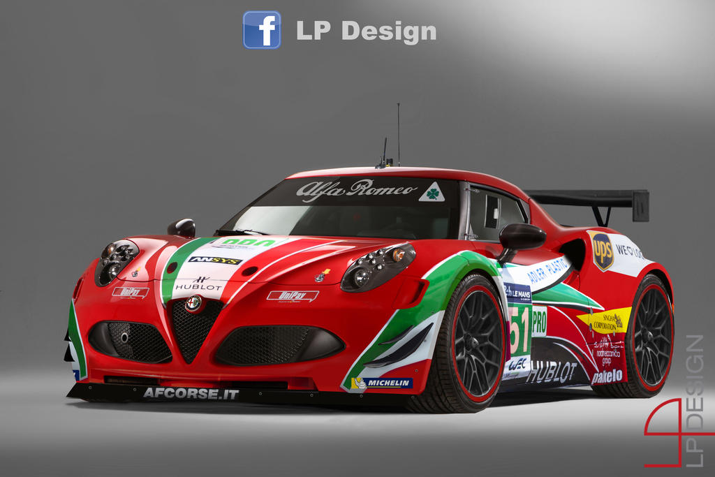 Alfa Romeo 4c Gt3 Af Corse By Renxo93 On Deviantart