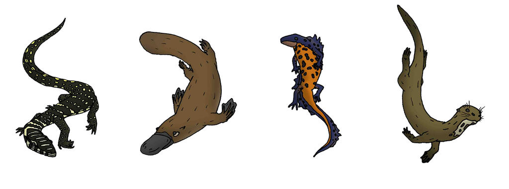 Animallum: Earth Animals (Semi-Aquatic) by Orbital-Primeval on ...