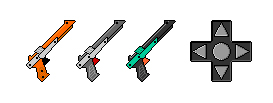 Pixel NES Light Guns and a D-Pad by Orbital-Primeval