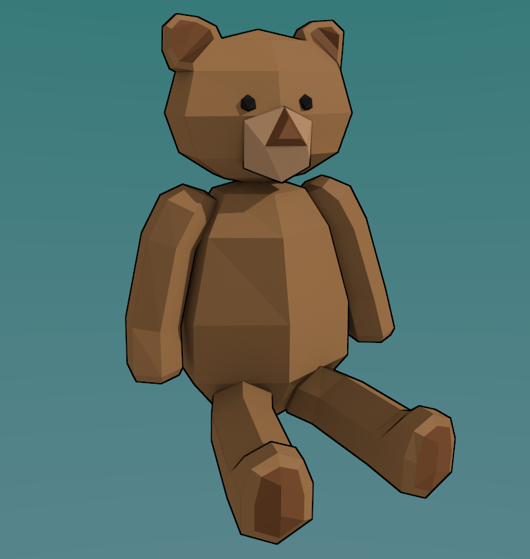 3Dcember - Day2 - Plush Bear by Daragos90