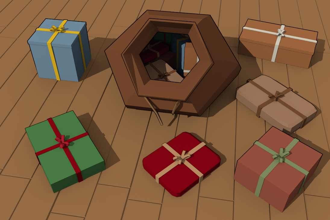 3Dcember - Day4 - Presents by Daragos90