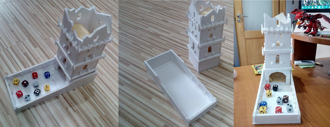 Descent Dice Tower Finished by Daragos90