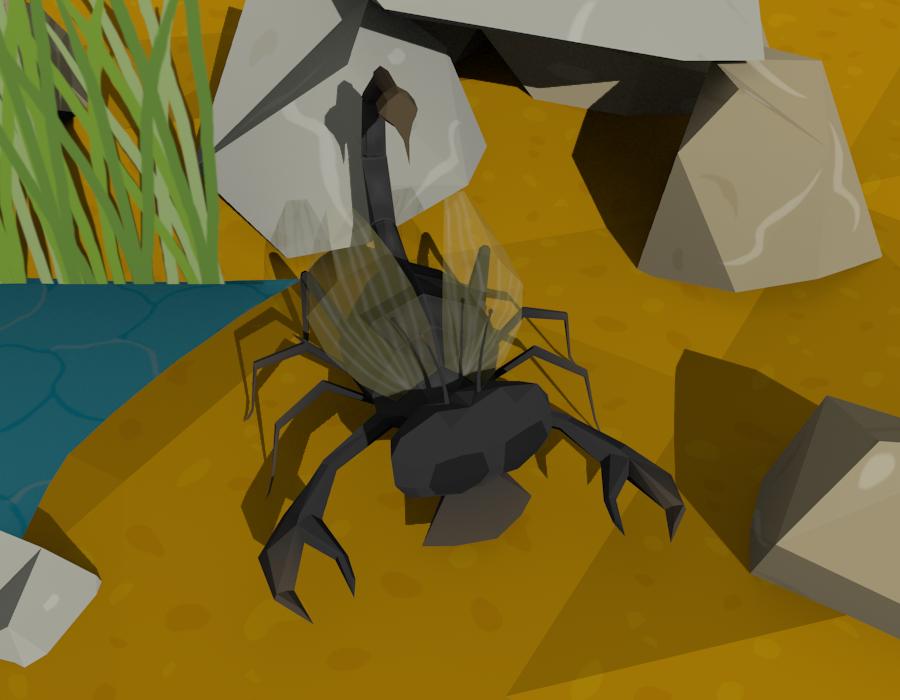 ScorpionSpiderGrigFly creature by Daragos90