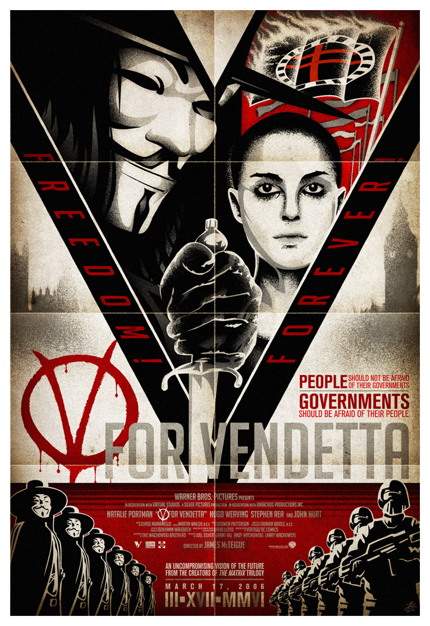 V For Vendetta 13x19 by shokxone-studios