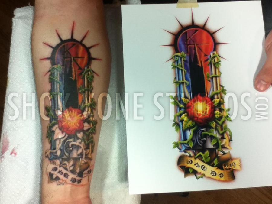 dark tower tattoo v2 by shokxone studios on deviantart. Black Bedroom Furniture Sets. Home Design Ideas