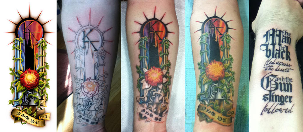 dark tower tattoo progression by shokxone studios on deviantart. Black Bedroom Furniture Sets. Home Design Ideas