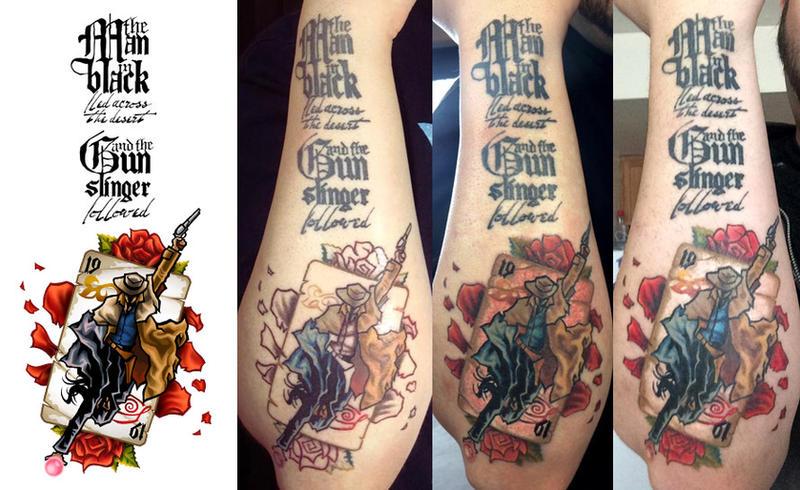 dark tower tattoo progression ii by shokxone studios on deviantart. Black Bedroom Furniture Sets. Home Design Ideas