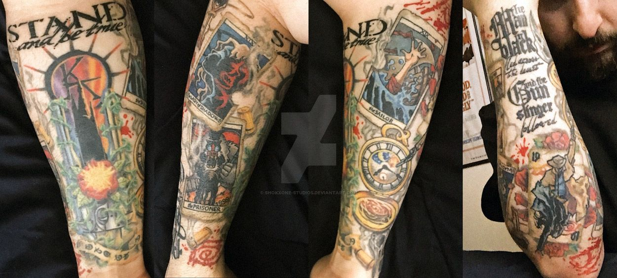The Dark Tower Sleeve - Complete by shokxone-studios