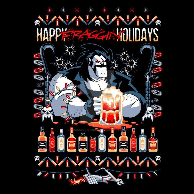Happy Fraggin' Holidays by shokxone-studios